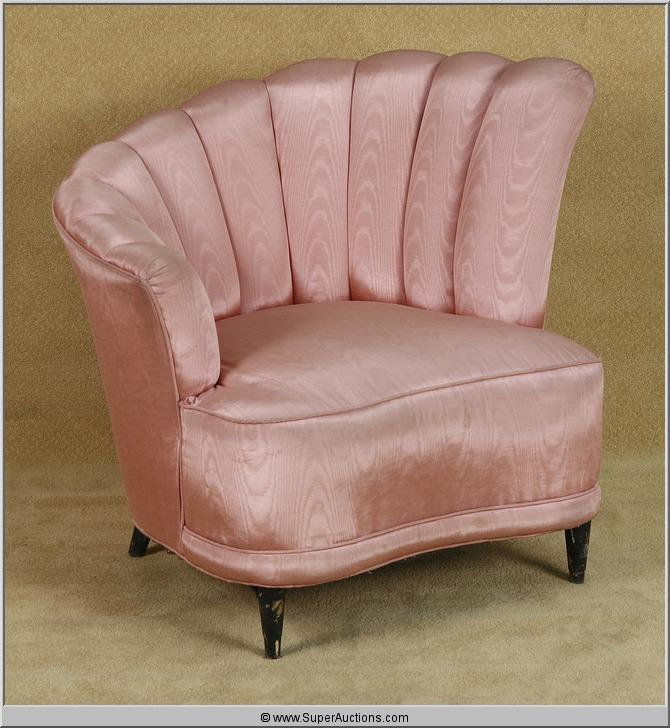 Powder Blue 2009 With Patrick Swayze 1950u0027s Pink Shell Back Lounge Chair  Used As A Movie. Loading Zoom