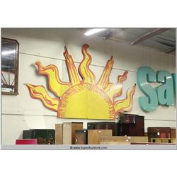 Large 15' Foot Hand Painted Cut Out Sun Panel