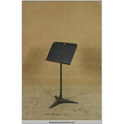 School Room Black Enamel Steel Music Stand