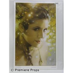 Star Wars Leia Print Signed