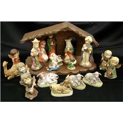 Creative Art Flowers Nativity Scene
