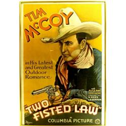 Original Tim McCoy  Two Fisted Law  movie poster