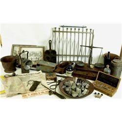 Historical collection of assay office items