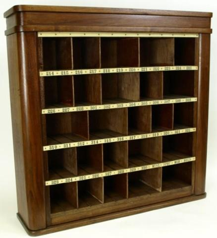 Antique walnut key and mail box wall cabinet. Loading zoom - Antique Walnut Key And Mail Box Wall Cabinet