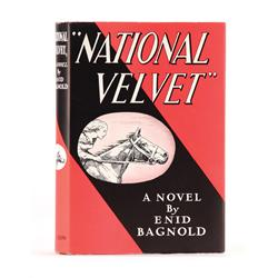 National Velvet, First Edition with signed letter from Enid Bagnold regarding the screen adaptation