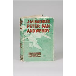 J. M. Barrie's Peter Pan and Wendy, ex libris J. M. Barrie with his signed bookplate