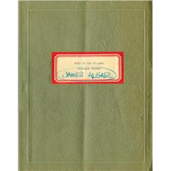 Wind in the Willows, dialogue script with over 250 of Walt Disney's handwritten annotations througho