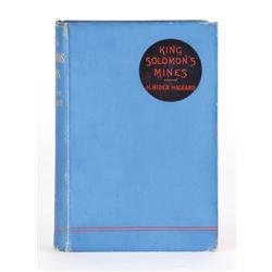 King Solomon's Mines, presentation copy inscribed by H. Rider Haggard