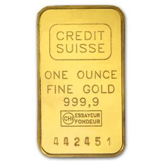 1 Oz 9999 Fine Gold Bar Credit Suisse Pamp