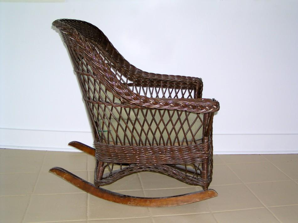 Victorian Wicker Rocking Chair Wicker Rocking Chair In
