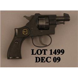 "Rohm Model RG20 DA revolver, .22 short cal., 2"" round barrel, black finish, checkered plastic brown"