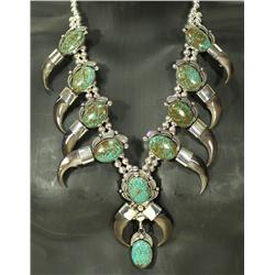 Navajo Bear Claw &amp; Turquoise Necklace