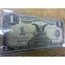 1899 Black Eagle One Dollar Silver Certificate