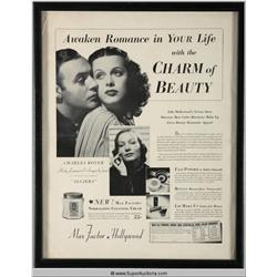 Make-Up Advertisement 1936 Featuring Hedy Lamarr and Sigrid Gurie {Max Factor Collection}