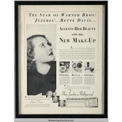 Make-Up Advertisement 1938 Featuring Bette Davis {Max Factor Collection}