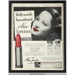 Make-Up Advertisement 1939 Featuring Merle Oberon {Max Factor Collection}