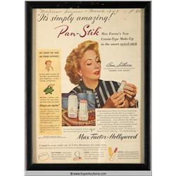 Pan-Stick Make-Up Advertisement 1949 Featuring Ann Southern {Max Factor Collection}