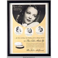 Pan-Cake Make-Up Advertisement 1941 Featuring Virginia Bruce {Max Factor Collection}