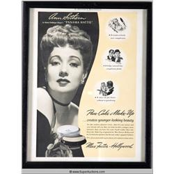 Pan-Cake Make-Up Advertisement 1941 Featuring Ann Southern {Max Factor Collection}
