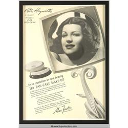 Pan-Cake Make-Up Advertisement 1940 Featuring Rita Hayworth {Max Factor Collection}