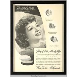 Pan-Cake Make-Up Advertisement 1941 Featuring Claudette Colbert {Max Factor Collection}