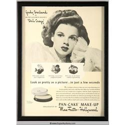 Pan-Cake Make-Up Advertisement 1943 Featuring Judy Garland {Max Factor Collection}