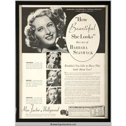 Make-Up Advertisement Featuring Barbara Stanwyk {Max Factor Collection}