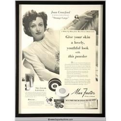 Make-Up Advertisement 1940 Featuring Joan Crawford {Max Factor Collection}