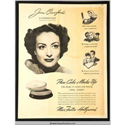 Pan-Cake Make-Up Advertisement 1941 Featuring Joan Crawford {Max Factor Collection}