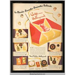 Gifts from Hollywood Make-Up Advertisement 1942 {Max Factor Collection}