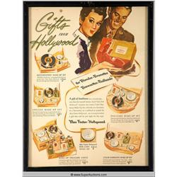 Gifts from Hollywood Advertisement 1943 {Max Factor Collection}