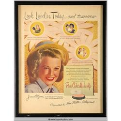 Pan-Cake Make-Up Advertisement 1946 Featuring June Allyson {Max Factor Collection}