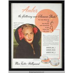 Make-Up Advertisement 1946 Featuring Betty Hutton {Max Factor Collection}
