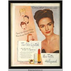 Tru-Color Lipstick Advertisement 1946 Featuring Donna Reed {Max Factor Collection}