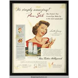 Pan-Stik Make-Up Advertisement 1949 Featuring Loretta Young {Max Factor Collection}