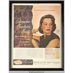 Pan-Cake Make-Up Advertisement 1951 Featuring Jane Greer {Max Factor Collection}
