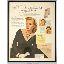 Pan-Stik Make-Up Advertisement 1952 Featuring Lori Nelson {Max Factor Collection}