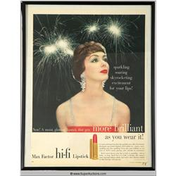 Hi-Fi Lipstick Advertisement 1958 {Max Factor Collection}