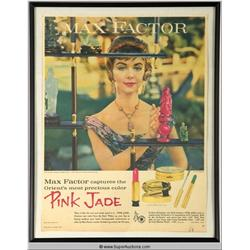 Pink Jade Lipstick Advertisement 1959 {Max Factor Collection}