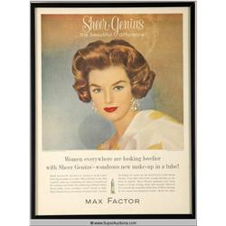 Sheer Genius Make-Up Advertisement 1961 {Max Factor Collection}
