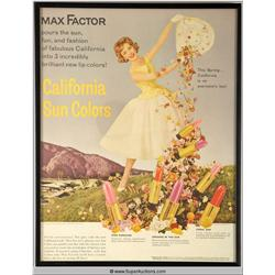 California Sun Colors Make-Up Advertisement 1960 {Max Factor Collection}