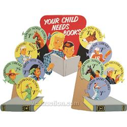 """Your Child Needs Books"" Die-Cut Cardboard Easel Back W"