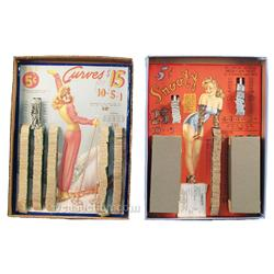 Lot Of 2 Pull Tab Game Boards,