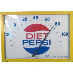 "Very Large Diet Pepsi Thermometer ""Try It Someone Will"