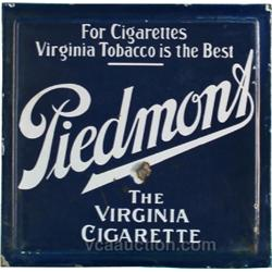 Piedmont Cigarette's Double Sided Porcelain Sign,