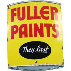 Fuller Paints Porcelain Sign,