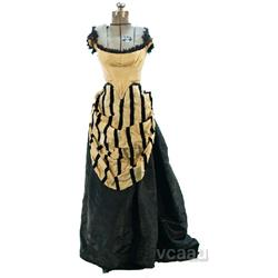 Old Victorian Woman's Dress On An Acme Dress Form Stand