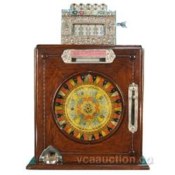 5 Cent Mills Brownie Single Wheel Slot Machine w/ Keys