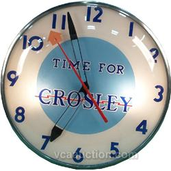 Time For Crosley  Wallmount  Pam  Style Light-Up Clock