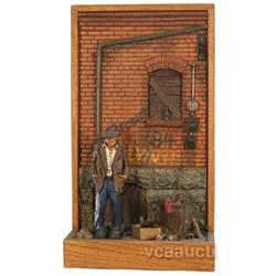 Michael Garman Alley Scene 3-D Display - 15  x 27  tall